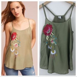 Anthropologie Akemi & Kin Embroidered Cami XS